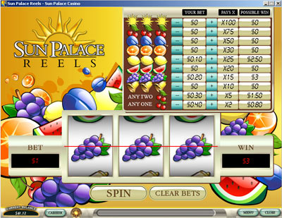 screenshot Sun Palace Casino